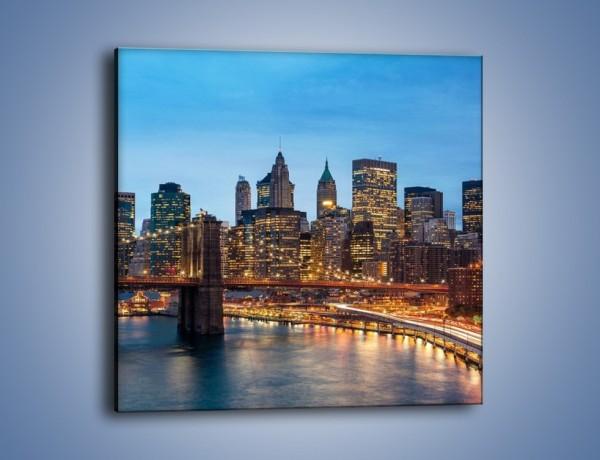 Obraz na płótnie – Manhattan w Nowym Yorku o poranku – jednoczęściowy kwadratowy AM453