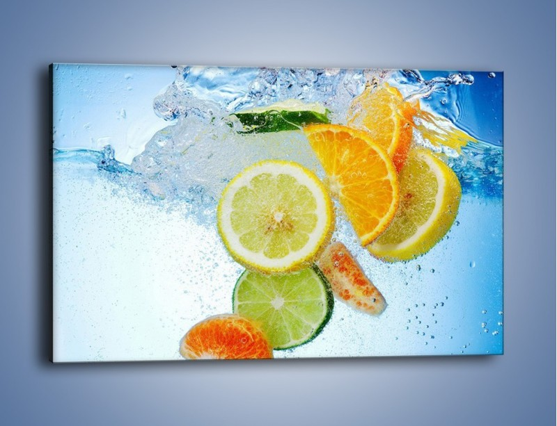 Obraz na płótnie – Zatopione plastry owoców – jednoczęściowy prostokątny poziomy JN057
