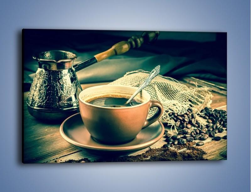 Obraz na płótnie – Czarna kawa arabica – jednoczęściowy prostokątny poziomy JN064