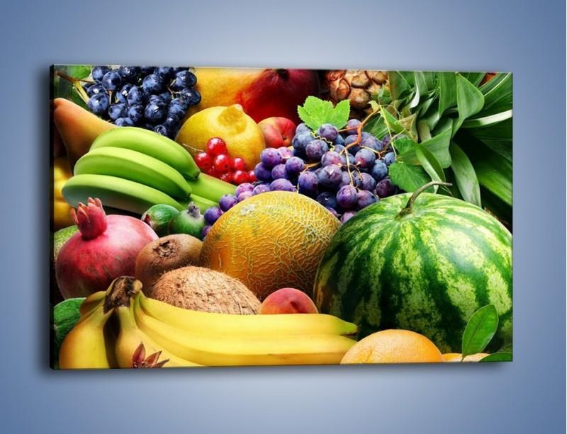 Obraz na płótnie – Stół pełen dojrzałych owoców – jednoczęściowy prostokątny poziomy JN072