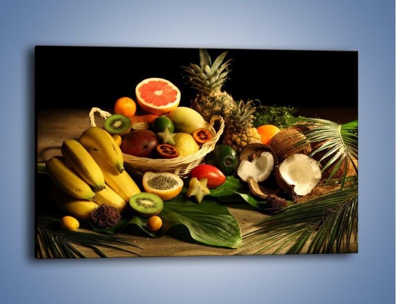 Obraz na płótnie – Kosz egzotycznych owoców – jednoczęściowy prostokątny poziomy JN074