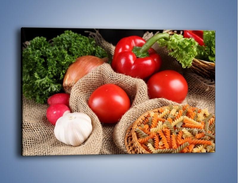 Obraz na płótnie – Makaron z warzywami – jednoczęściowy prostokątny poziomy JN076