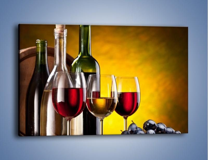 Obraz na płótnie – Wino z orzechami – jednoczęściowy prostokątny poziomy JN077