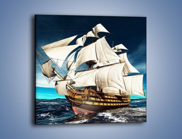 Modne ubrania Obraz na płótnie – Statek na morzu – jednoczęściowy kwadratowy EN78