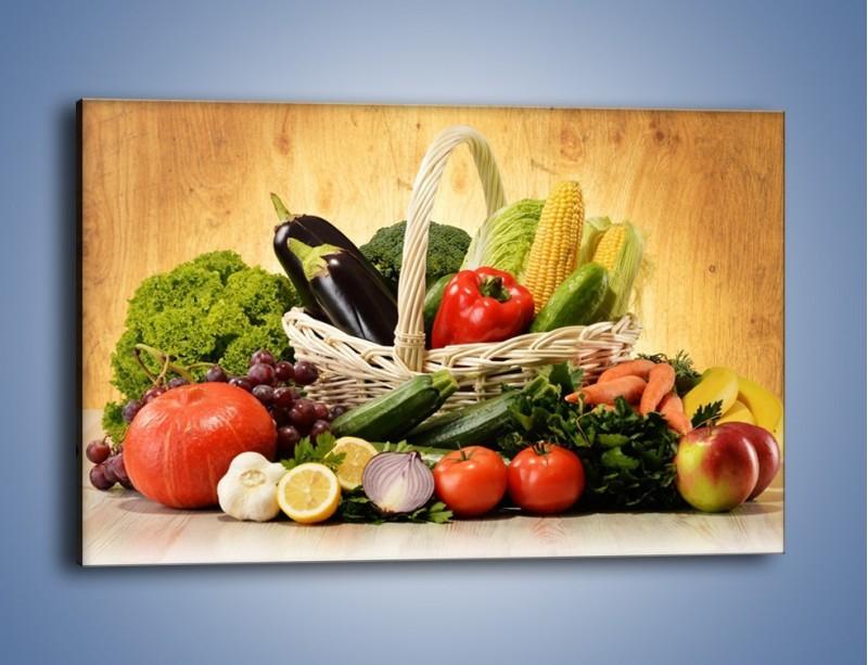 Obraz na płótnie – Kosz pełen warzywnych witamin – jednoczęściowy prostokątny poziomy JN081
