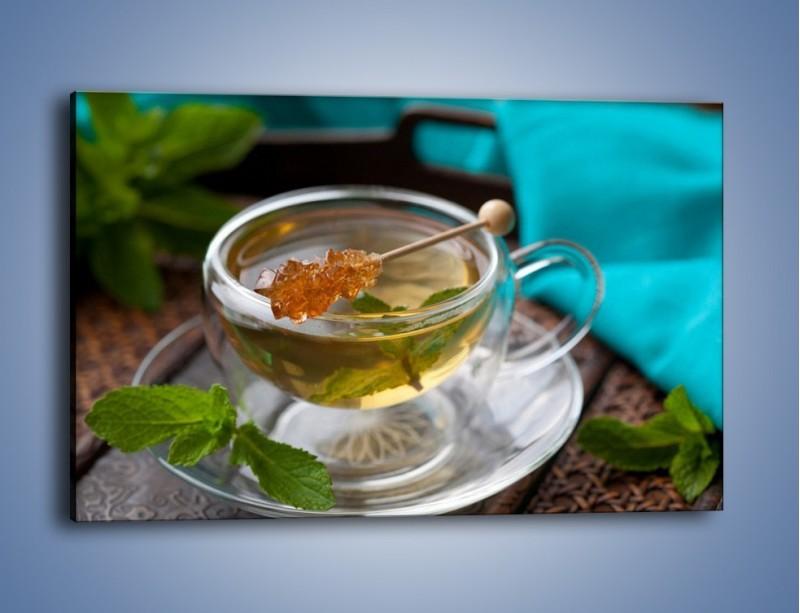 Obraz na płótnie – Oczyszczająca zielona herbata – jednoczęściowy prostokątny poziomy JN104