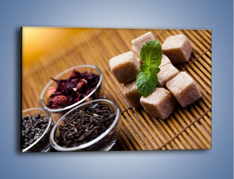 Obraz na płótnie – Ususzone bogactwa natury do herbaty – jednoczęściowy prostokątny poziomy JN105