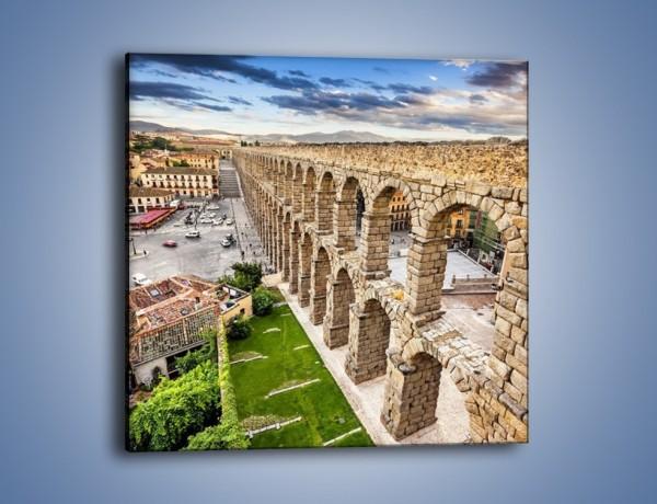Obraz na płótnie – Akwedukt w Segowii – jednoczęściowy kwadratowy AM456