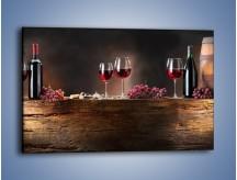 Obraz na płótnie – Beczuszki czerwonego wina – jednoczęściowy prostokątny poziomy JN142
