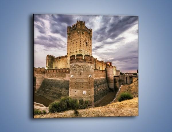 Obraz na płótnie – Zamek La Mota w Hiszpanii – jednoczęściowy kwadratowy AM457