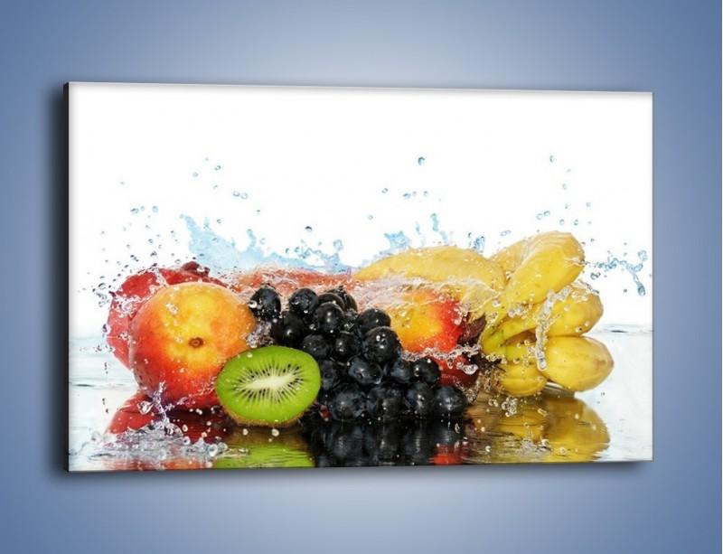 Obraz na płótnie – Owocowe nuty skąpane w wodzie – jednoczęściowy prostokątny poziomy JN176