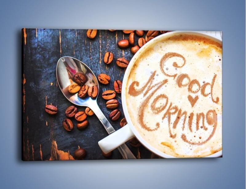 Obraz na płótnie – Kawa na miły początek dnia – jednoczęściowy prostokątny poziomy JN180