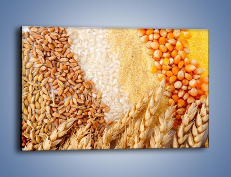 Obraz na płótnie – Ziarna pszenno-zbożowe – jednoczęściowy prostokątny poziomy JN207