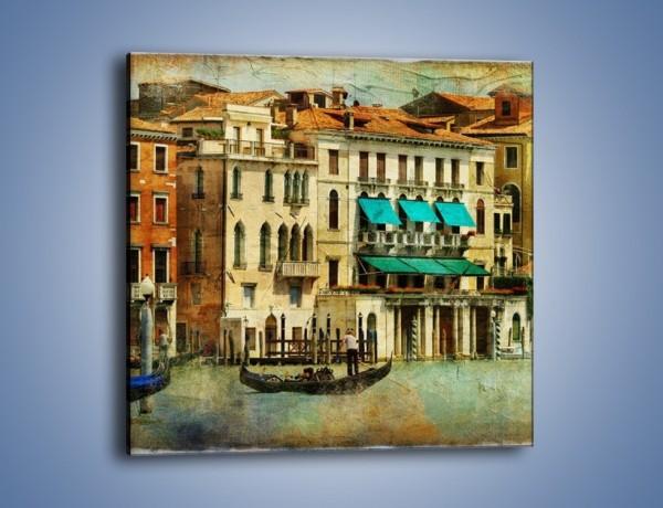 Obraz na płótnie – Weneckie domy w stylu vintage – jednoczęściowy kwadratowy AM459