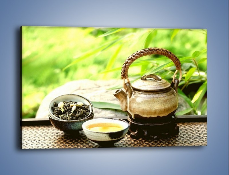 Obraz na płótnie – Herbata na świeżym powietrzu – jednoczęściowy prostokątny poziomy JN249