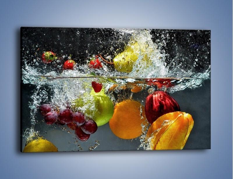 Obraz na płótnie – Głębokie owocowe zanurzenie – jednoczęściowy prostokątny poziomy JN253
