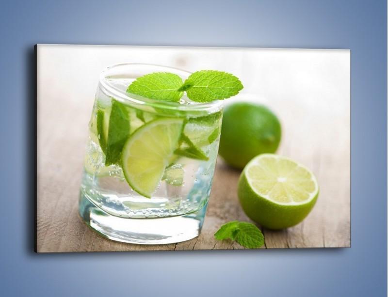 Obraz na płótnie – Limonkowy napój – jednoczęściowy prostokątny poziomy JN262