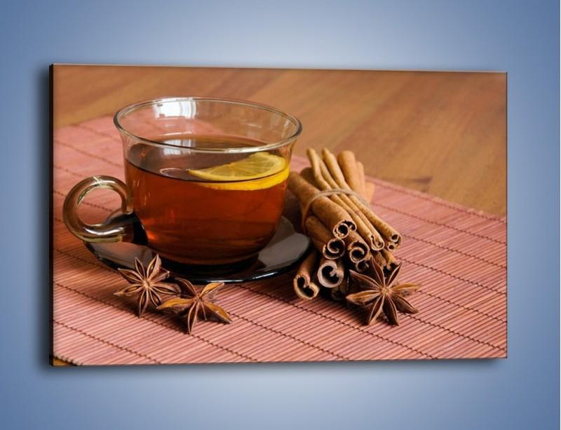 Obraz na płótnie – Rozgrzewająca filiżanka herbaty – jednoczęściowy prostokątny poziomy JN266