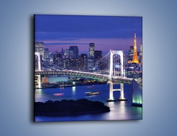 Obraz na płótnie – Tęczowy Most w Tokyo – jednoczęściowy kwadratowy AM460