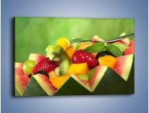 Obraz na płótnie – Arbuzowa misa z owocami – jednoczęściowy prostokątny poziomy JN274