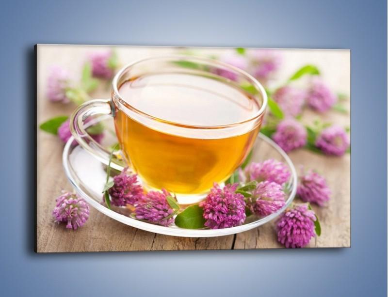 Obraz na płótnie – Herbata z kwiatami – jednoczęściowy prostokątny poziomy JN283