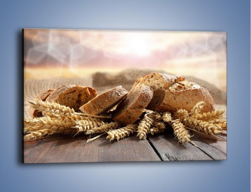 Obraz na płótnie – Świeży pszenny chleb – jednoczęściowy prostokątny poziomy JN287