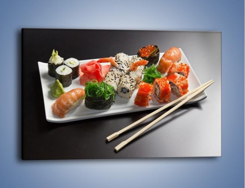 Obraz na płótnie – Kuchnia azjatycka na półmisku – jednoczęściowy prostokątny poziomy JN295