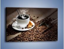 Obraz na płótnie – Czarna palona kawa – jednoczęściowy prostokątny poziomy JN311