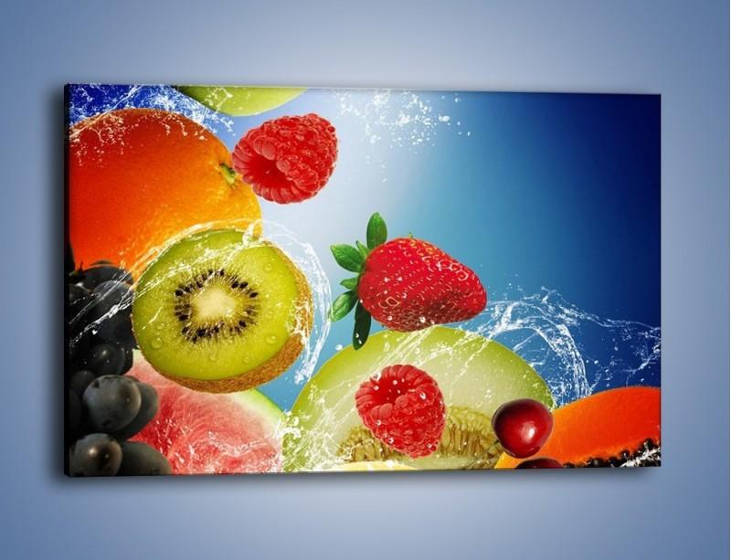 Obraz na płótnie – Owoce o poranku – jednoczęściowy prostokątny poziomy JN331