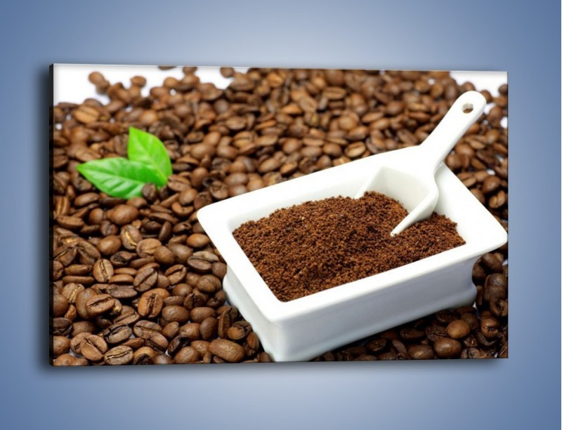 Obraz na płótnie – Zmielona kawa – jednoczęściowy prostokątny poziomy JN340