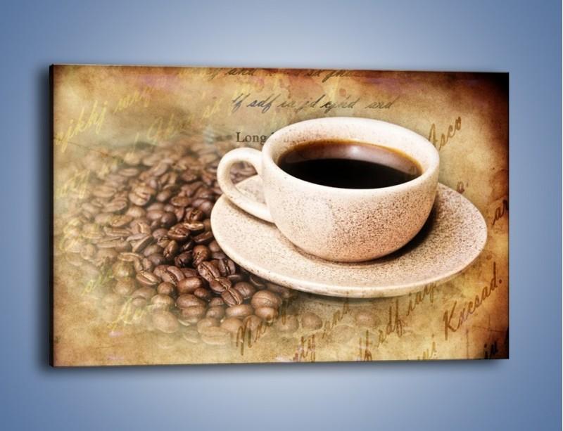 Obraz na płótnie – List przy filiżance kawy – jednoczęściowy prostokątny poziomy JN347