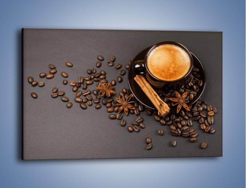 Obraz na płótnie – Kawa z goździkiem – jednoczęściowy prostokątny poziomy JN349