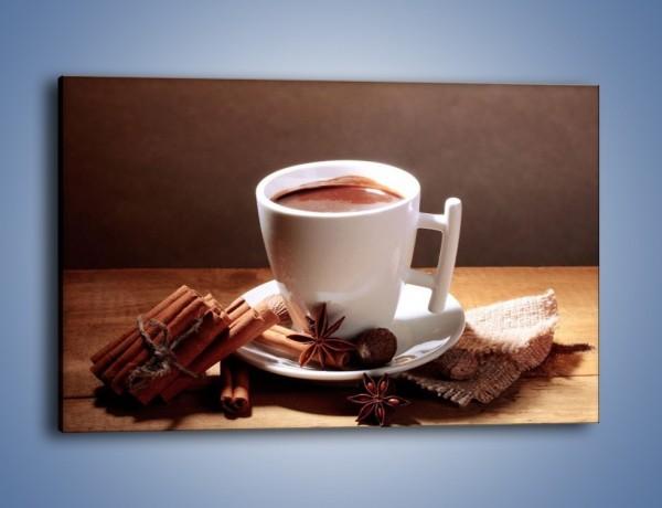 Obraz na płótnie – Gorąca czekolada z cynamonem – jednoczęściowy prostokątny poziomy JN362