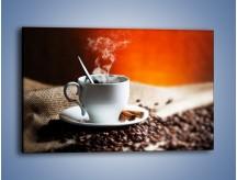 Obraz na płótnie – Aromatyczny zapach kawy – jednoczęściowy prostokątny poziomy JN374