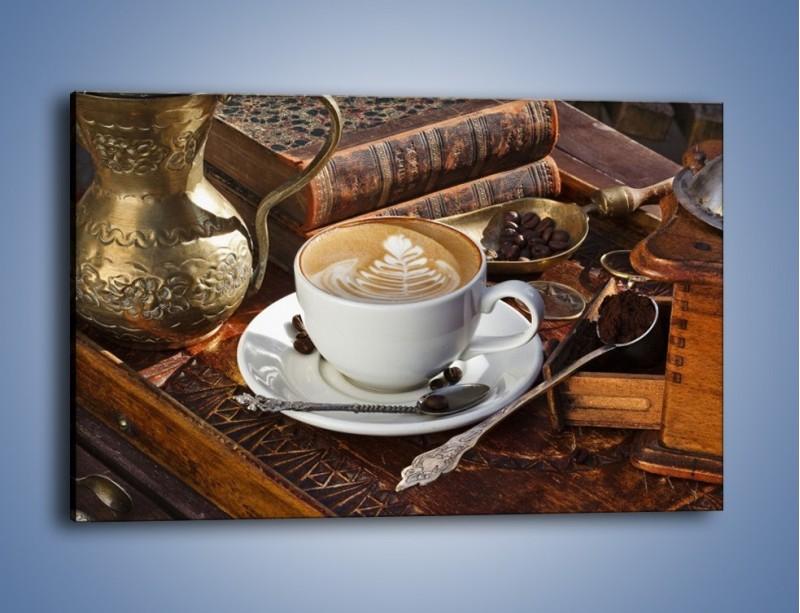 Obraz na płótnie – Wspomnienie przy kawie – jednoczęściowy prostokątny poziomy JN377