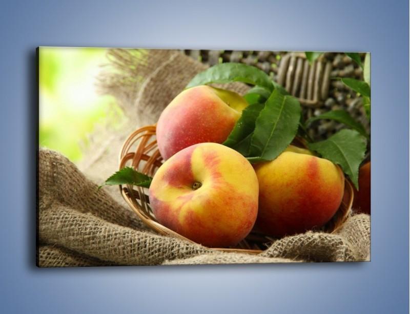 Obraz na płótnie – Dojrzałe jabłka w koszu – jednoczęściowy prostokątny poziomy JN390