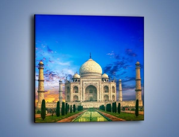 Obraz na płótnie – Tadź Mahal pod niebieskim niebem – jednoczęściowy kwadratowy AM466