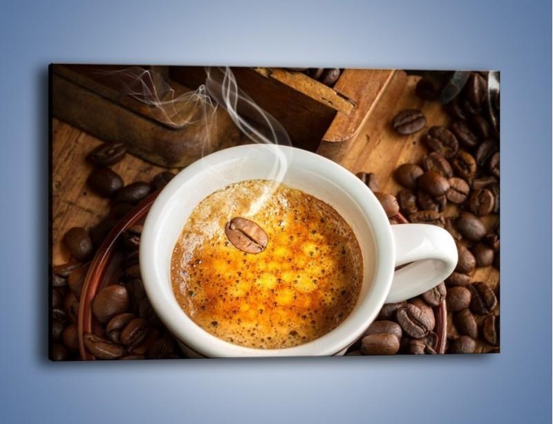 Obraz na płótnie – Ziarna zatopione w kawie – jednoczęściowy prostokątny poziomy JN416