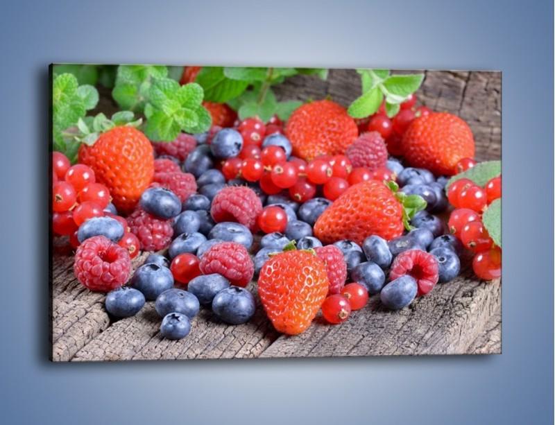 Obraz na płótnie – Owoce z działki – jednoczęściowy prostokątny poziomy JN422