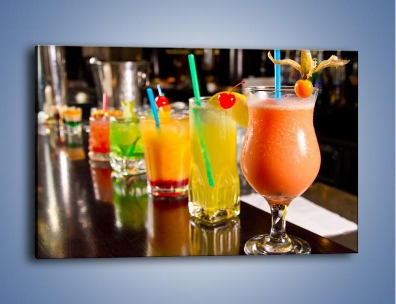 Obraz na płótnie – Barmańskie drinki – jednoczęściowy prostokątny poziomy JN433