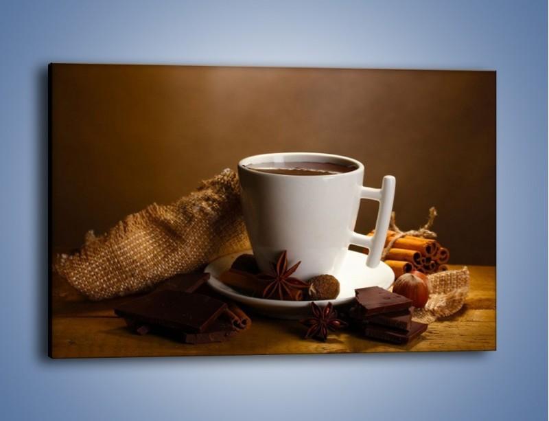 Obraz na płótnie – Gorąca czekolada z dodatkami – jednoczęściowy prostokątny poziomy JN452