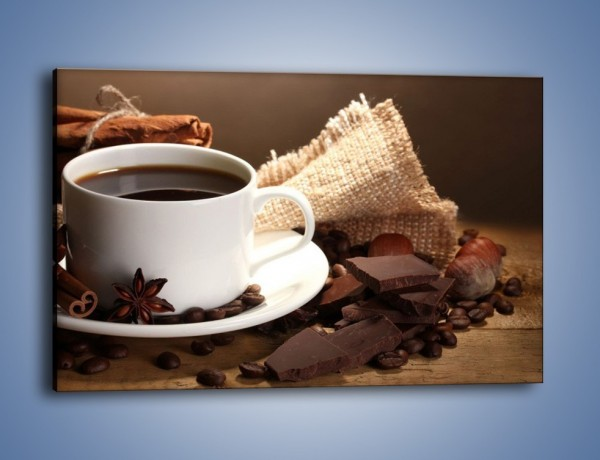 Obraz na płótnie – Kawa z dodatkiem czekolady – jednoczęściowy prostokątny poziomy JN453