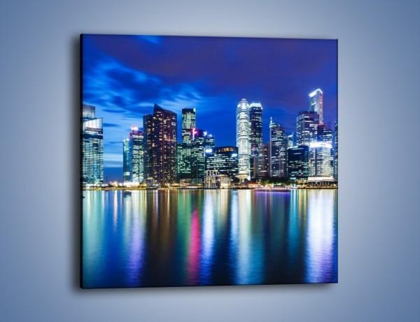 Obraz na płótnie – Drapacze chmur w Singapurze – jednoczęściowy kwadratowy AM474
