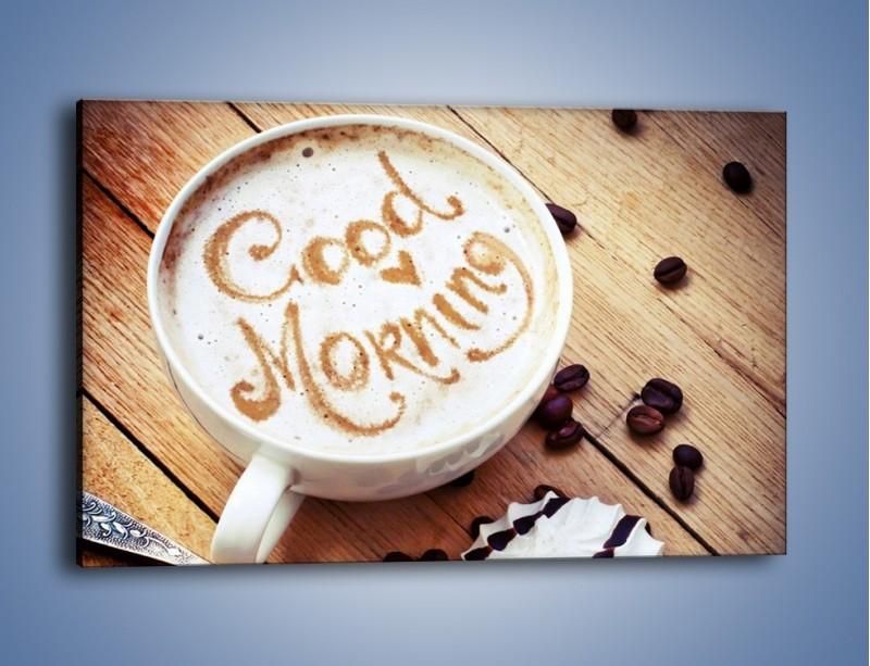 Obraz na płótnie – Kawa z bezą – jednoczęściowy prostokątny poziomy JN605