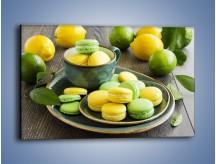 Obraz na płótnie – Cytrynowo-limonkowe ciasteczka – jednoczęściowy prostokątny poziomy JN724