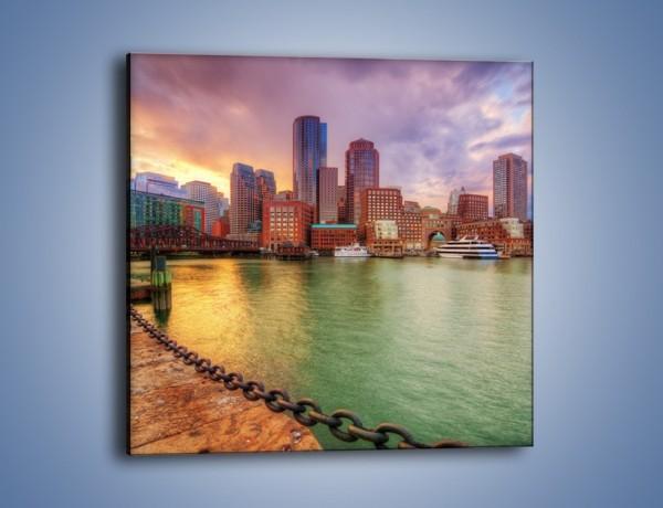 Obraz na płótnie – Widok na centrum Bostonu – jednoczęściowy kwadratowy AM486