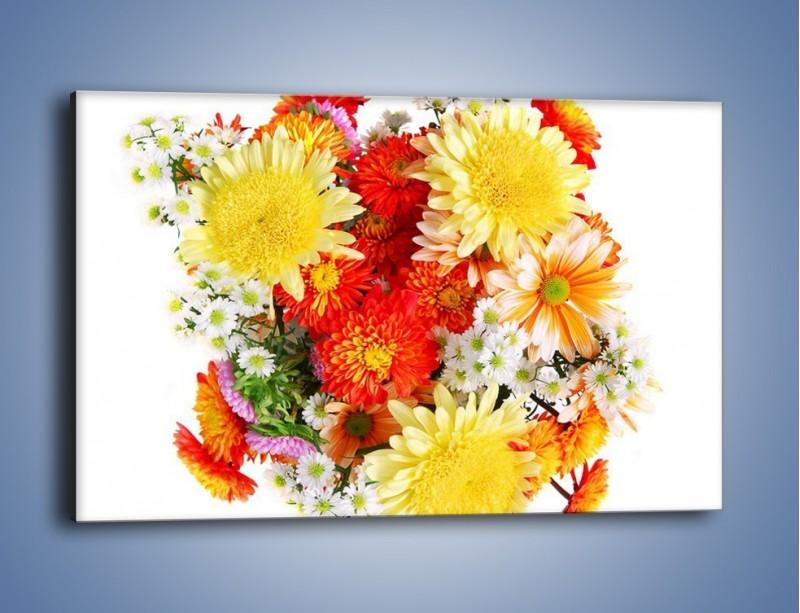 Obraz na płótnie – Bukiecik kwiatów z ogródka – jednoczęściowy prostokątny poziomy K118