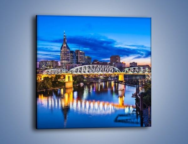 Obraz na płótnie – Most Shelby Street w Nashville – jednoczęściowy kwadratowy AM489