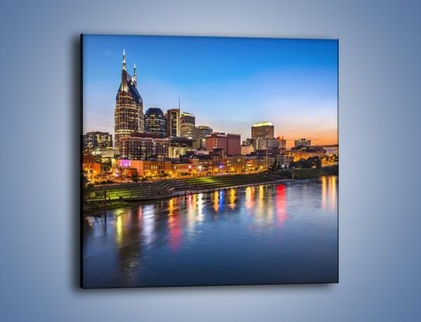Obraz na płótnie – Nashville nad rzeką Cumberland – jednoczęściowy kwadratowy AM491