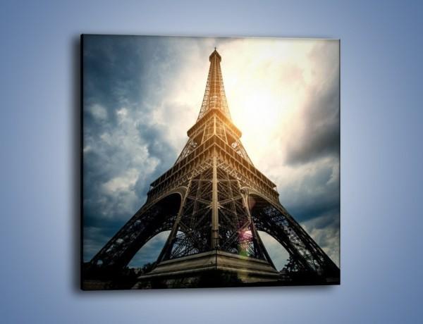 Obraz na płótnie – Wieża Eiffla w blasku słońca – jednoczęściowy kwadratowy AM494